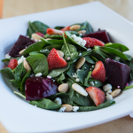 Spinach & Roasted Beet Salad